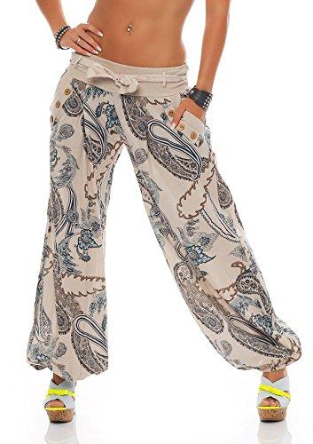 Pantalones Haren De Verano Pluder Aladin 100 Algodon Talla Unica Eu 36 38 40 12 Colores Yoga Y Moda