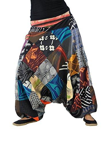 varios colores eeeca 6b46c Pantalones bombachos hombre y mujer virblatt con tejidos tradicionales  talla única, S - L pantalones cagados con cómodo cinturón elástico ropa  hippie ...